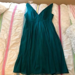 NWT Jcrew Chiffon Green Dress(Bridesmaids) Size 0